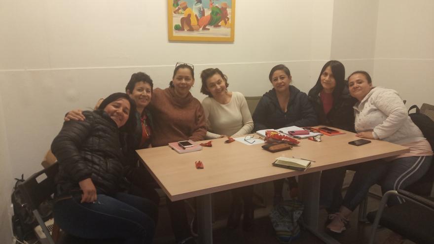 Reunión de Sindicato de trabajadoras del hogar sin papeles