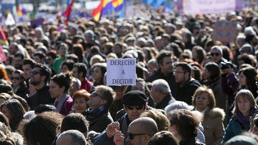 Decenas de miles de personas han rechazado la Ley Gallardón en Madrid / David Fernández (DISO Press)