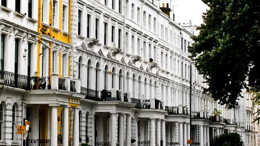 Fachadas victorianas en Notting Hill, Londres.