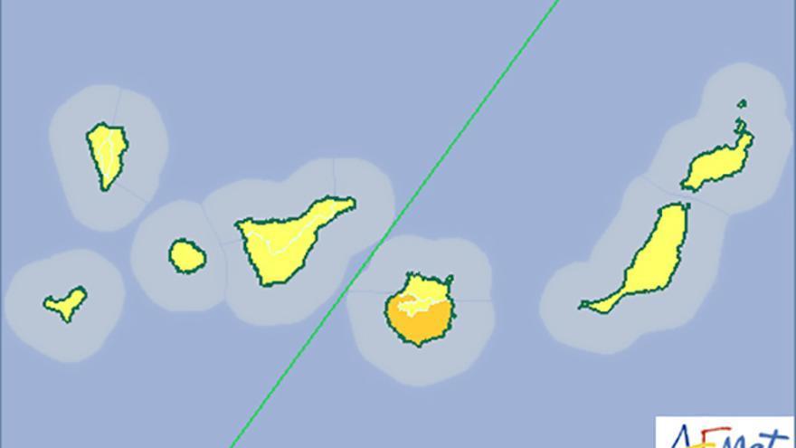 Previsión meteorológica de la Aemet en Canarias para este miércoles, 08/07/2015.