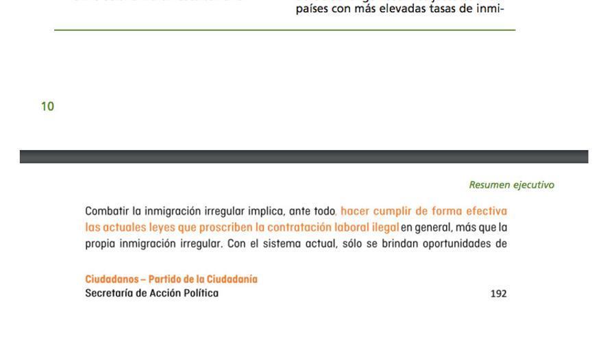 Arriba, estudio del instituto Elcano de 2004; abajo, programa de C´s.