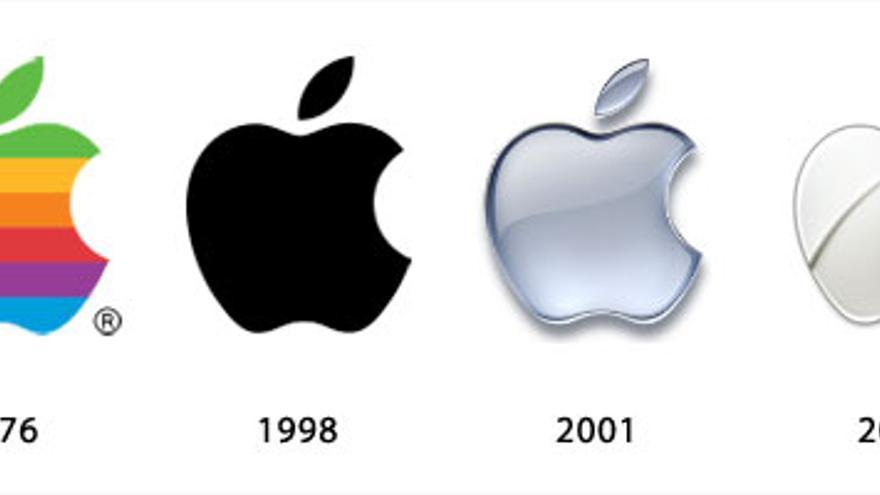 Evolución del logo de Apple (Foto: Graphics217a)