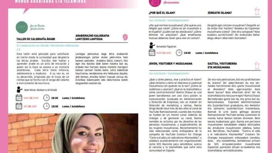 El programa cuenta actividades infantiles, cine, literatura y una jordana de ciclos de mundo árabe islámico.