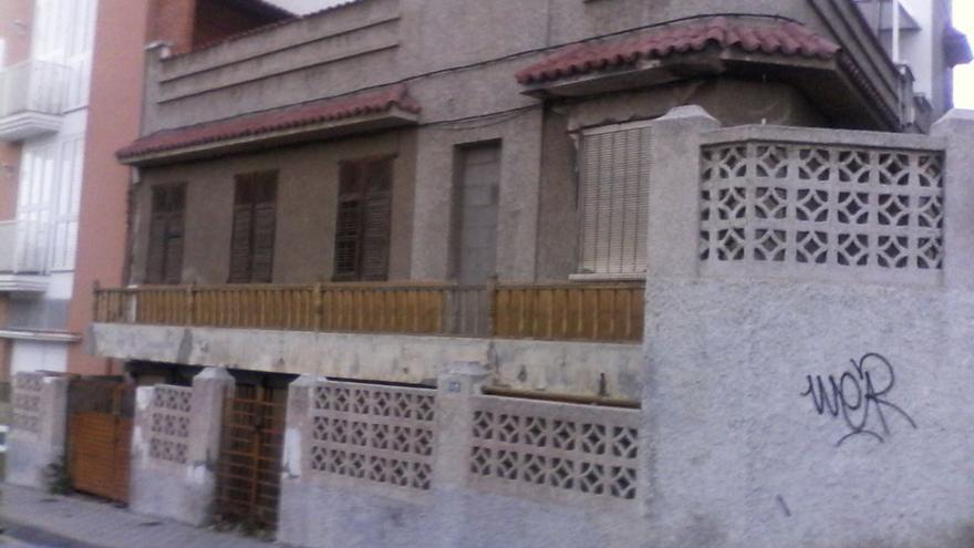 Fachada de la vivienda de Rosa Velazco.