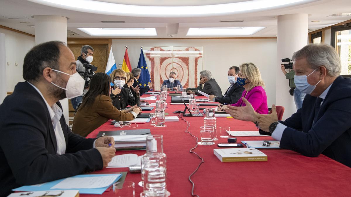 Consejo de Gobierno de Canarias celebrado este jueves, 11 de febrero.