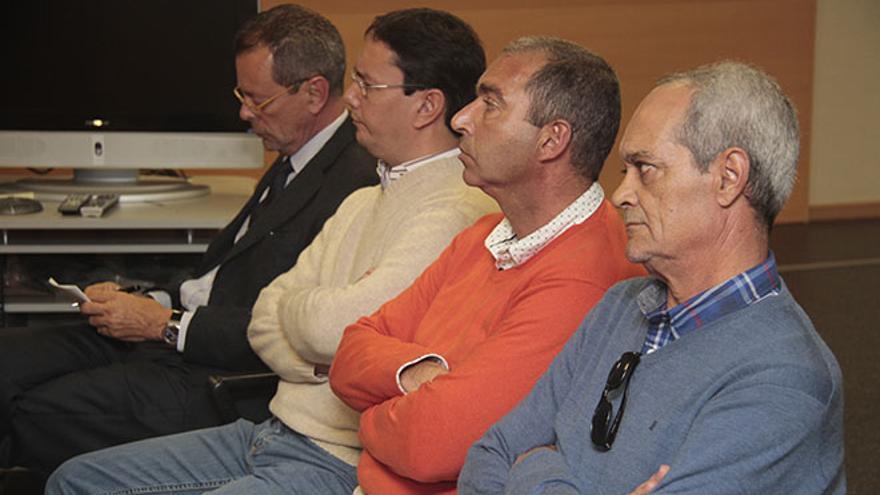 Acusados en el caso Proselan durante el juicio.