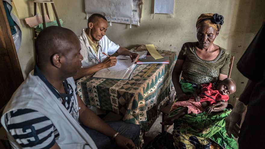 Pascal Balananai ha pasado 7 años atendiendo a víctimas del conflicto en el centro de alimentación terapéutica de Tshikapa