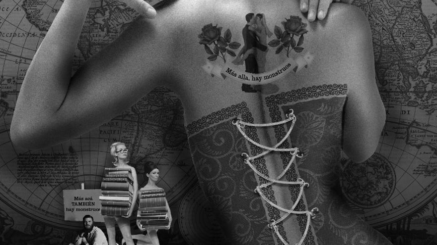 Collage de Señora Milton para el artículo 'Poliamor is the new black', de Brigitte Vasallo, en Pikara Magazine