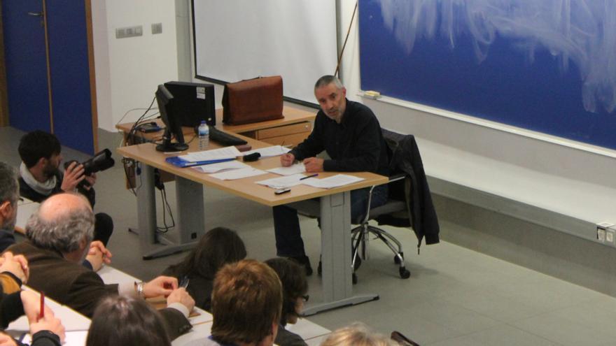 Miguel Anxo Álvarez, en la Asemblea de Saúde Mental de Galicia