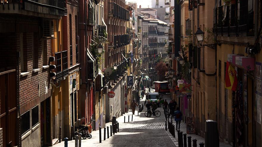 Una calle del barrio de Lavapiés, en Madrid