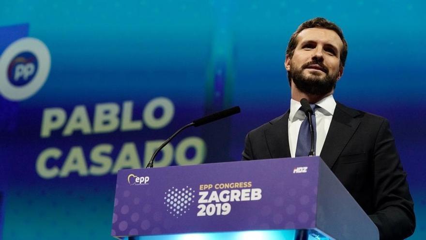 """Casado dice en Croacia que el independentismo que una minoría quiere imponer en Cataluña es """"problema de toda Europa"""""""