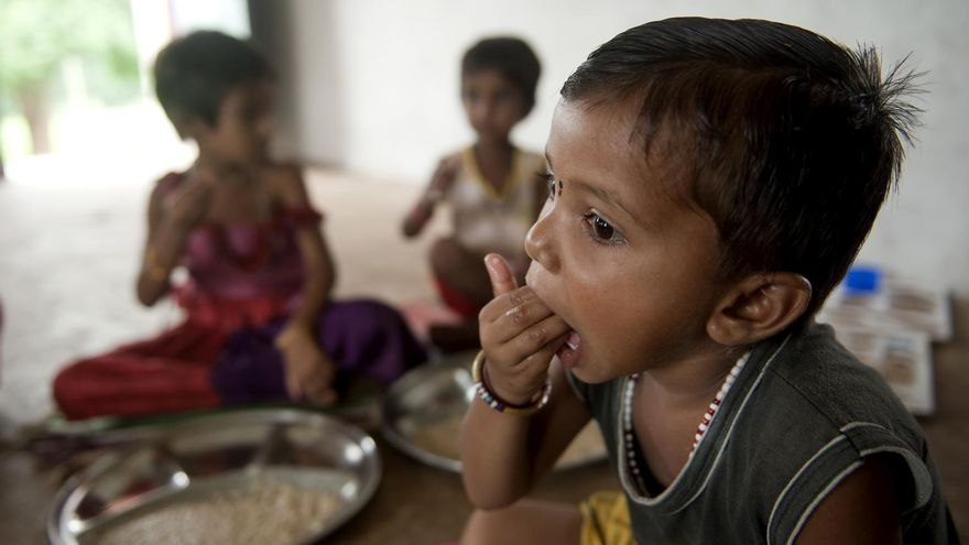 Sanjana Lodha vive en el distrito Guna en Madhya Pradesh, una de las regiones más pobres de la India. / Unicef.