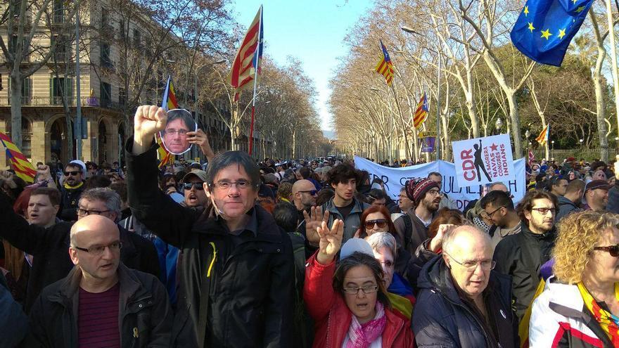 Concentración frente al Parlament de Catalunya