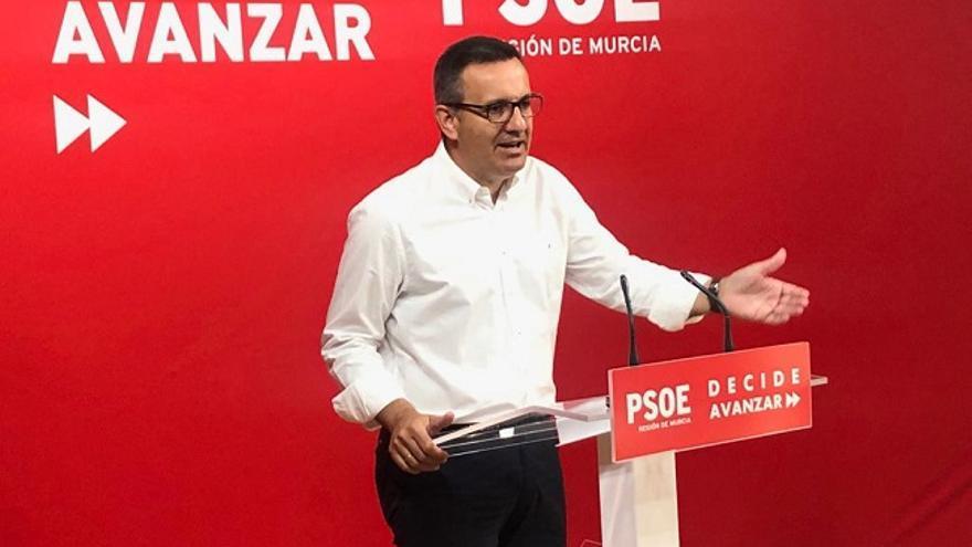 El secretario general del PSRM y portavoz del Grupo Parlamentario Socialista, Diego Conesa