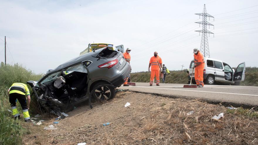 Un fallecido y dos heridos graves en un accidente en la A-132 en Huesca