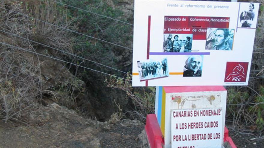 Honran a los asesinados de la sima de Jinámar