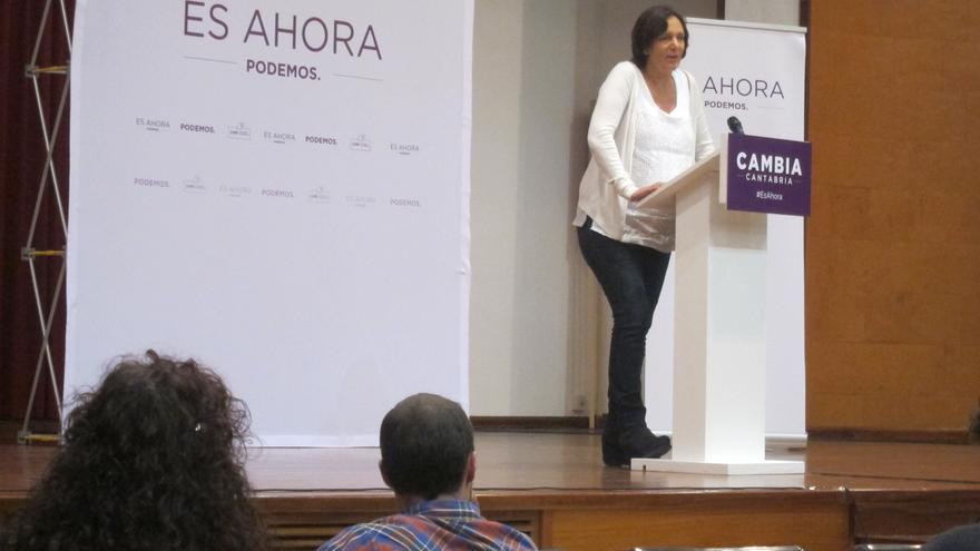 """Bescansa (Podemos): """"Si echamos a la panda de chorizos de las instituciones, revertimos esta situación"""""""