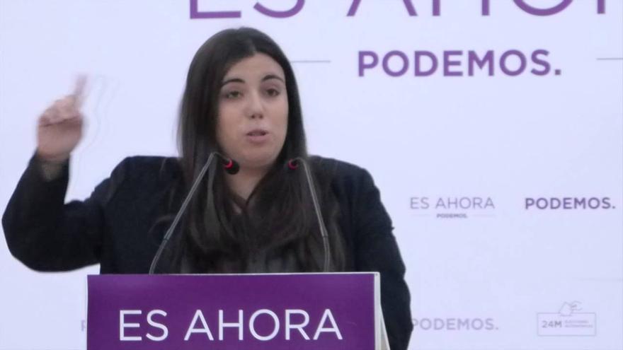 Covadonga Peremarch, en un acto de Podemos en Dénia.