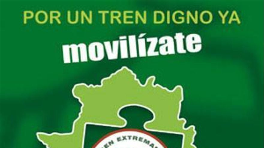 Manifestacion tren digno Extremadura Badajoz ferrocarril