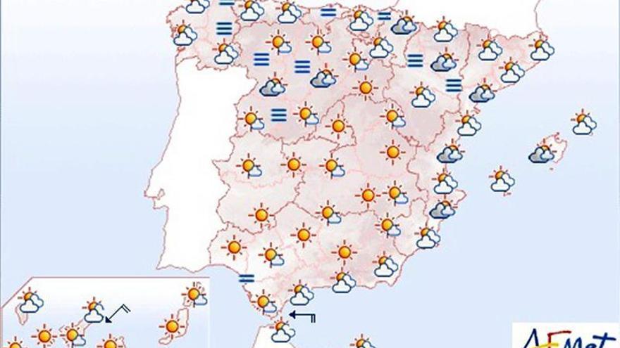 Hoy, se mantienen las temperaturas y las nubes se concentran en Galicia