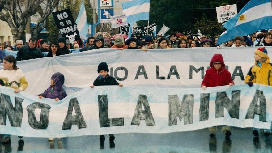 """Las movilizaciones ciudadanas obligaron al Gobierno de la ciudad a convocar un referéndum. El """"no a la mina"""" ganó con el 82%. / Fotografía: Asamblea No a la Mina"""