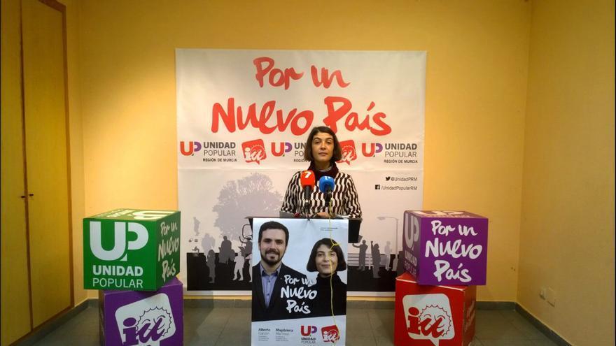 Magdalena Martínez Bode, candidata de Unidad Popular-IU Verdes por la Región de Murcia al Congreso