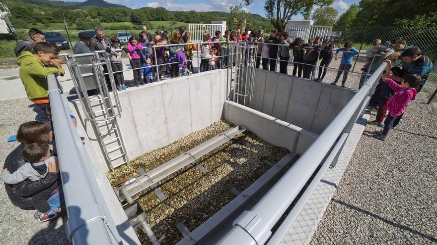 Inaugurada la depuradora Lantz, que dará servicio a 140 personas