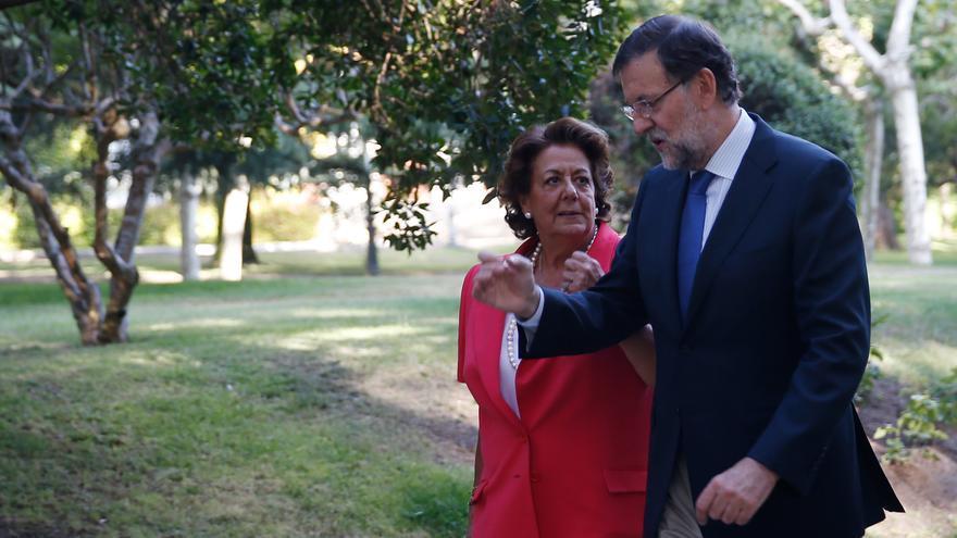 La alcaldesa de Valencia en una visita a Mariano Rajoy en la Moncloa