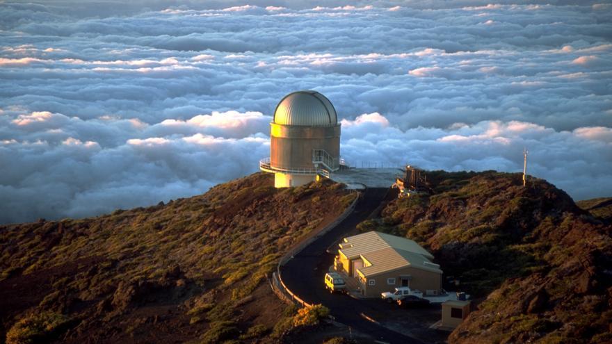 Telescopio Óptico Noruego  (NOT),en el Roque de Los Muchachos, en las cumbres de Garafía,