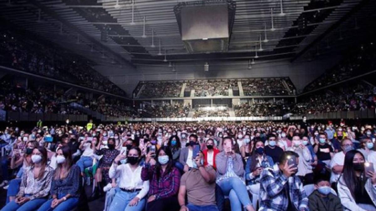 Concierto en Navarra Arena en septiembre de 2021
