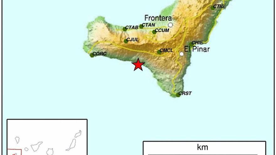 Terremoto de 3,7 grados en la escala Richter registrado en la isla de El Hierro
