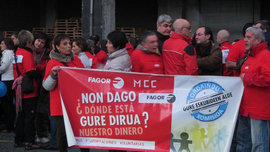Colectivos afectados por el cierre de Fagor Electrodomésticos y Edesa convocan el jueves una nueva movilización