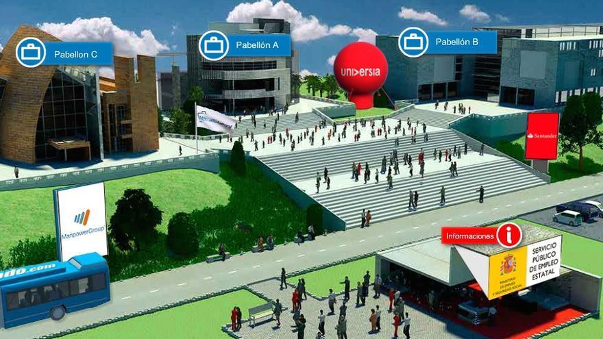 Vista general de la entrada de la Feria del Mercado Laboral Virtual. /  Foto: Feria del Mercado Laboral Virtual.