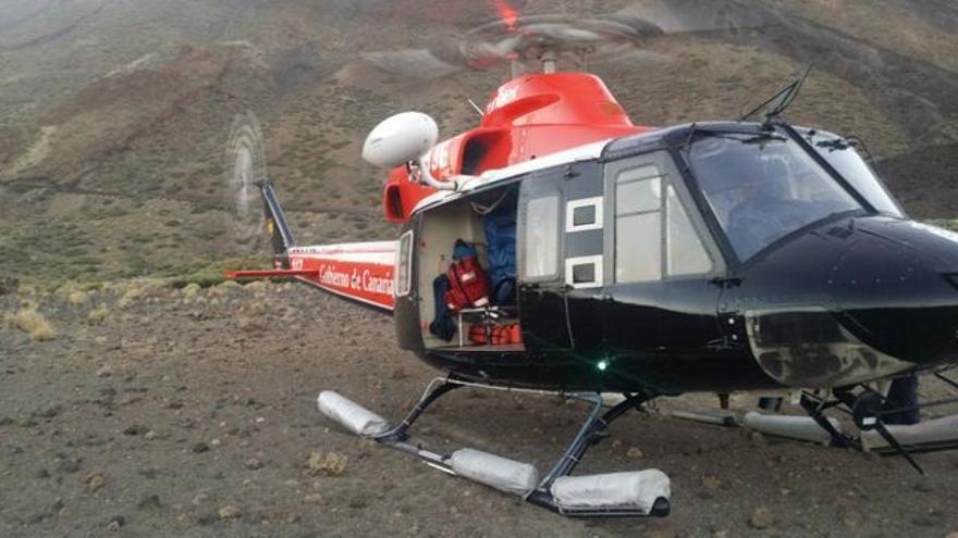 Helicóptero de rescate del Gobierno de Canarias, en una imagen de archivo