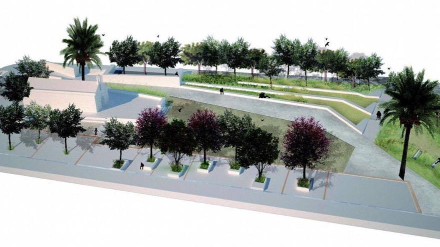 Figuración del nuevo parque de la Ermita de Orriols