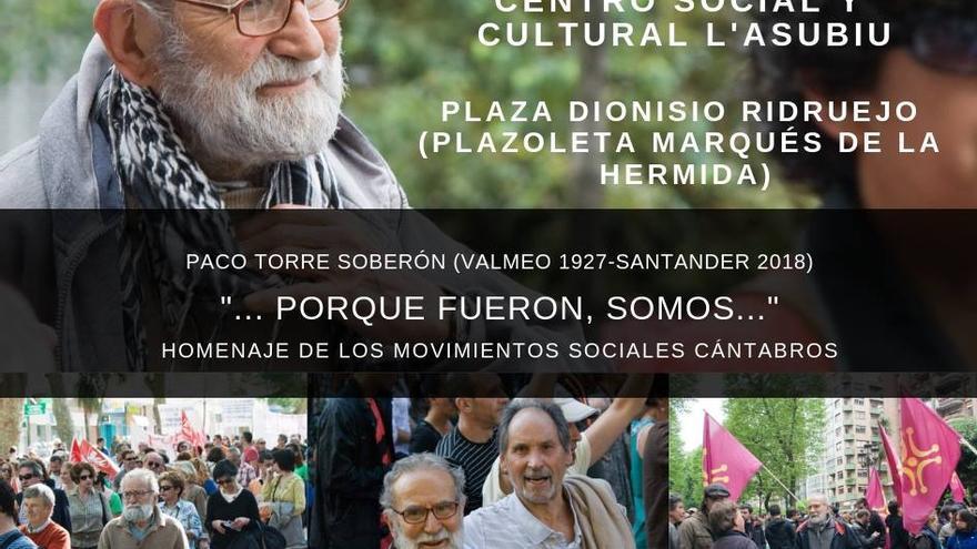 El activista cántabro Paco Torre recientemente fallecido.