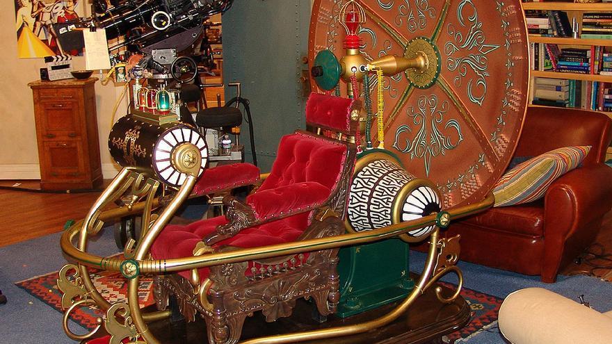 Réplica de la máquina del tiempo que apareció en 'The Big Bang Theory'