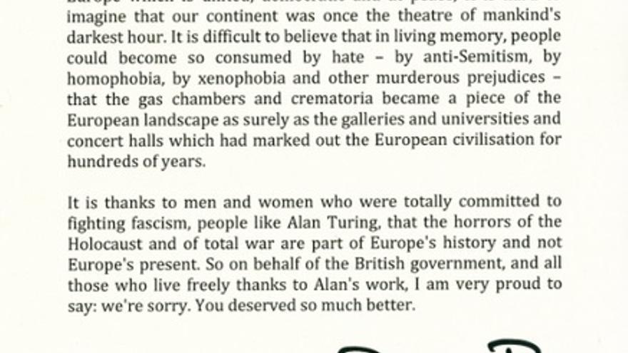 El propio ministro británico (en 2009), Gordon Brown, pidió disculpas públicas