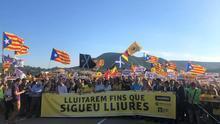 Las marchas por los presos llegan a las cárceles de Lledoners (Barcelona) y Puig de les Basses (Girona)