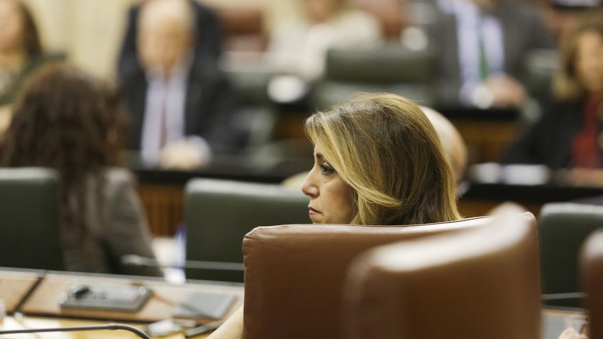 """Susana Díaz avisa a Moreno de que no conseguirá """"amordazar ni amedrentar"""" al PSOE-A con """"mentiras"""" sobre su gestión"""