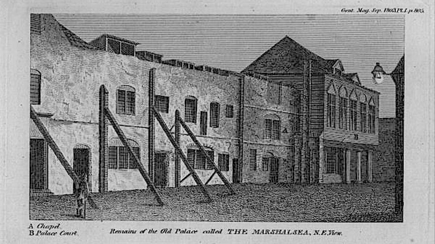 La vieja cárcel de Marshalsea, 1803