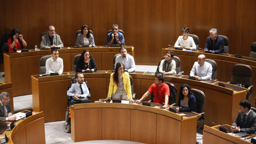 Diputados de Podemos en las Cortes de Aragón.