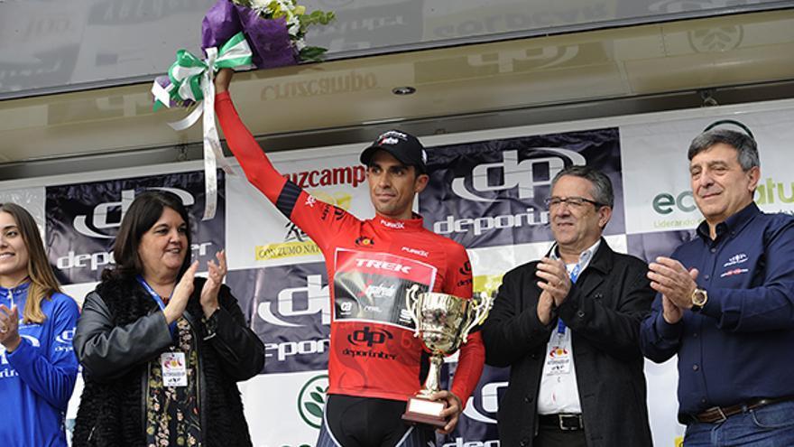 Alberto Contador, nuevo líder de la Vuelta a Andalucía.