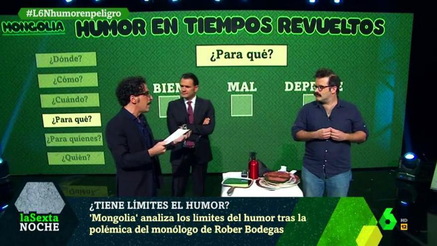 Mongolia explicó en laSexta Noche cuáles son los límites del humor