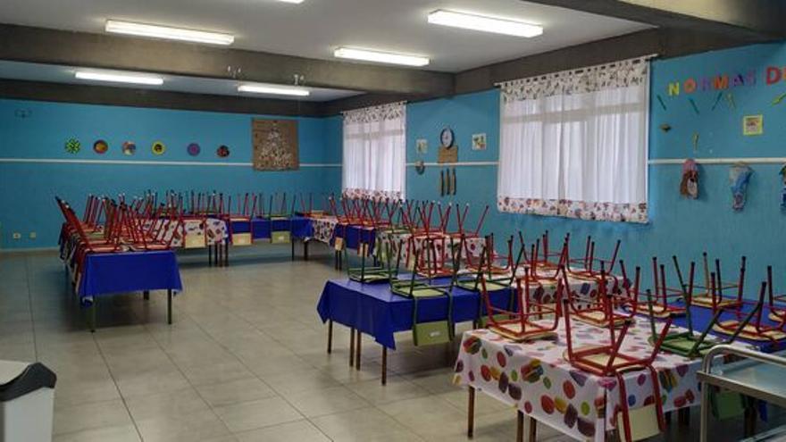 Comedor escolar del CEIP Santo Domingo de Garafía.