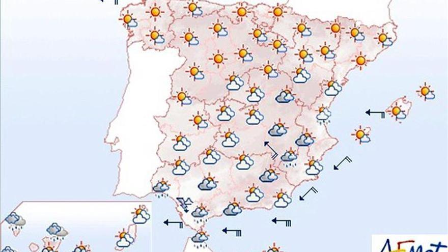Aemet prevé heladas fuertes en Pirineos y viento en Galicia y Estrecho