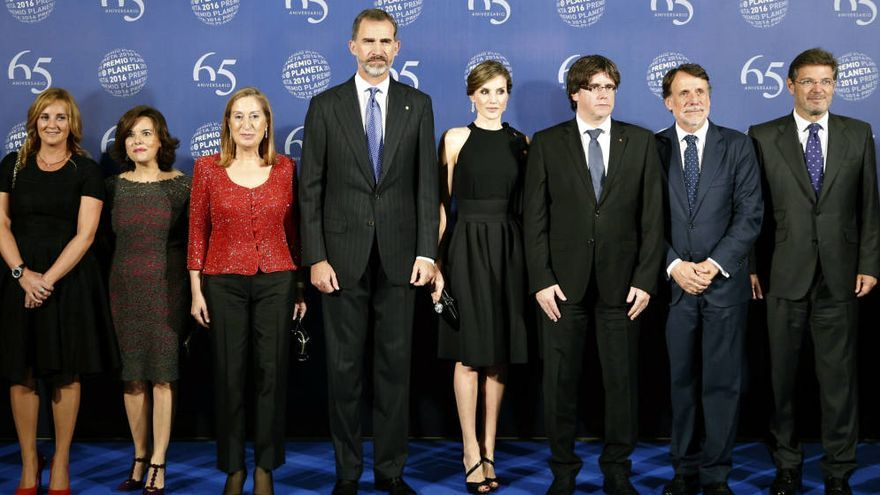 Fotografía de familia en el Premio Planeta 2016