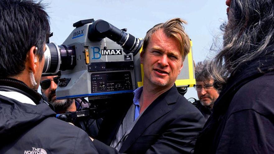 Christopher Nolan, durante el rodaje de Dunkirk