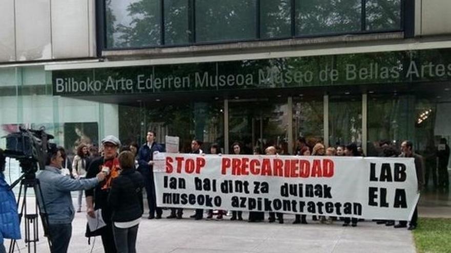Protesta contra la precariedad