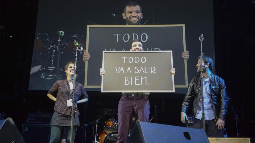 Carlos Matallanas en el concierto solidario que organizó en beneficio de la investigación sobre la ELA